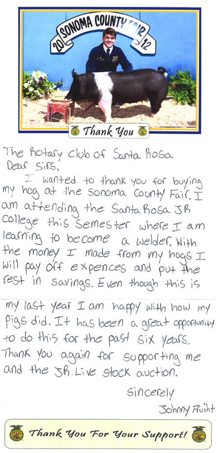 Buyers & Thank You Letters Heritage FFA