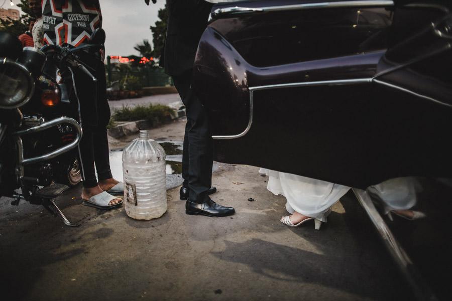 fotografia de casamento Egipto noiva contraste social