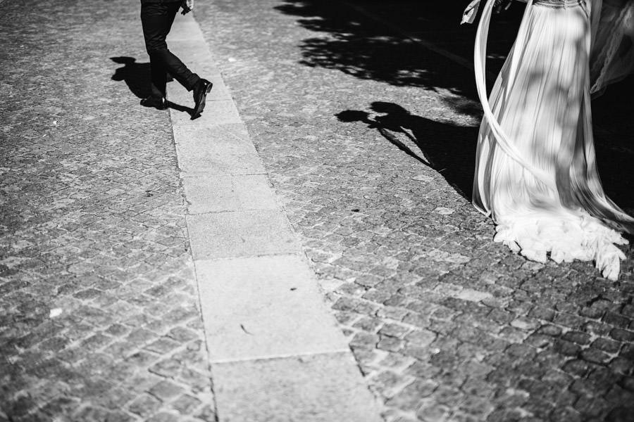 fotografia de casamento sombras dos noivos