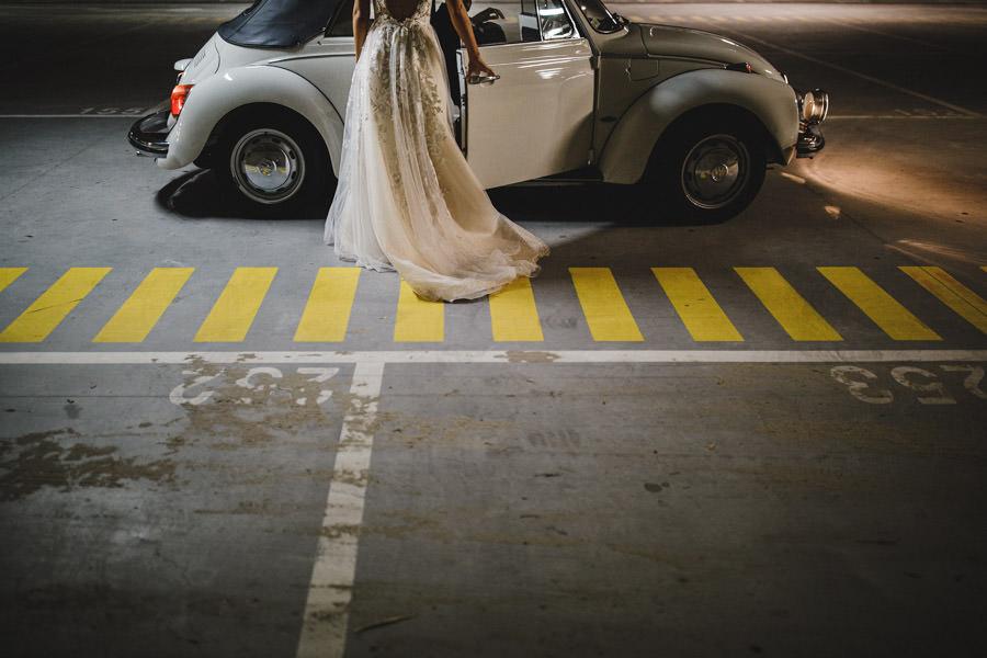 fotografia de casamento noiva e carocha