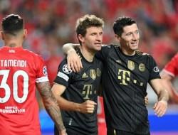 Benfica vs Bayern Munchen, Hasil Pertandingan Skor 0-4