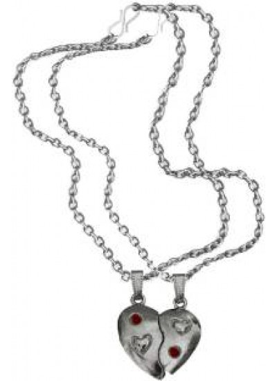 Buy Online Menjewell Heart Jewellery Collection Red