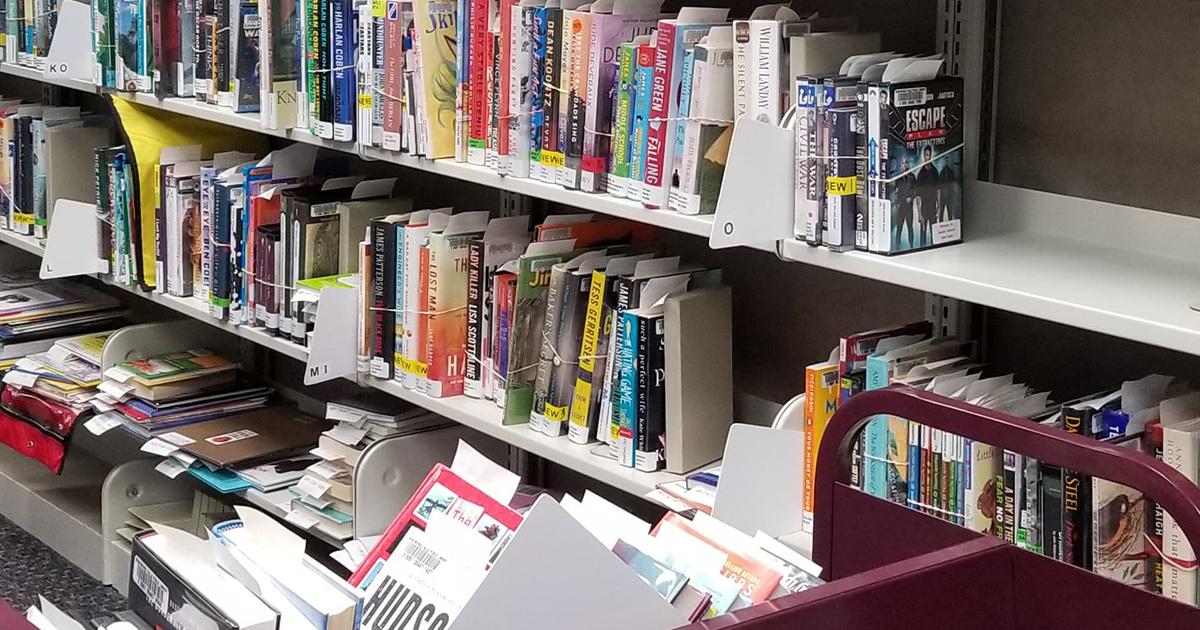 books on the hold shelf