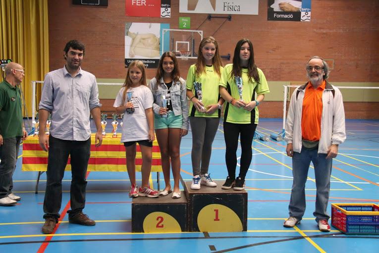 Thaís Daroca y Júlia Florit, segundas en el Master Sub-13 de Cerdanyola del Vallés 2014