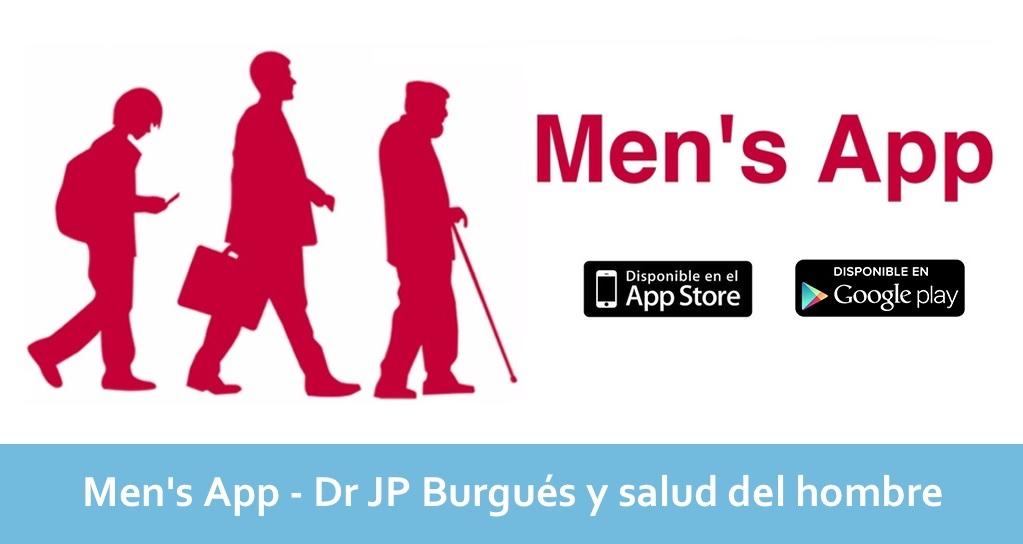 Men's App – Dr JP Burgués y salud del hombre disponible para iOS y Android