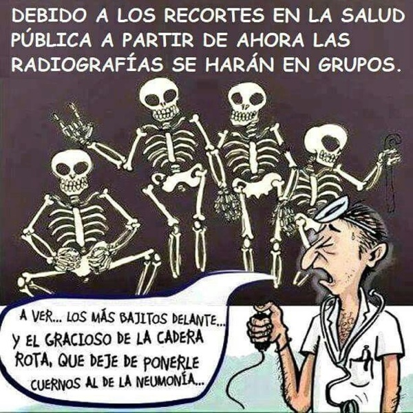 radiografía en grupo