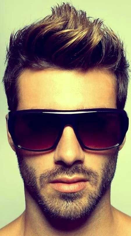 Cool Brushed Up Hairstyle Mens Hairstyles 2016