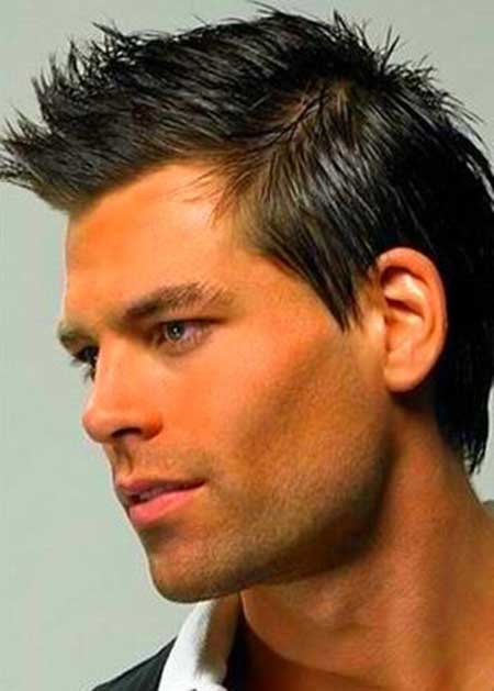 Hairstyle Short Round Mohawk Face Men
