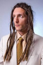 dreadlock hairstyle with white