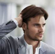 mid length hairstyles men