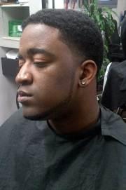 afro taper haircut mens