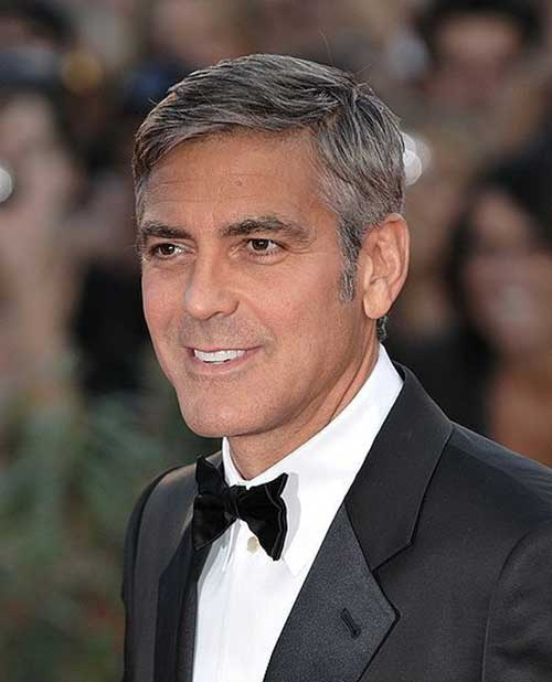 15 Best George Clooney Short Hair Mens Hairstyles 2016