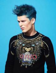 guy with blue hair mens