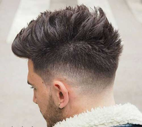 Haircut Back Tapered View For Men