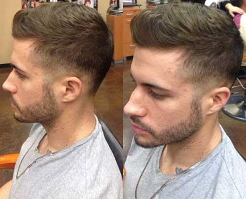Short Hairstyle Face Men Mohawk Round