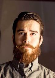 stylish bearded guys and cool hairstyles