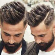 coolest side parted men hairstyles