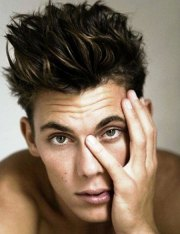 messy hairstyles men mens