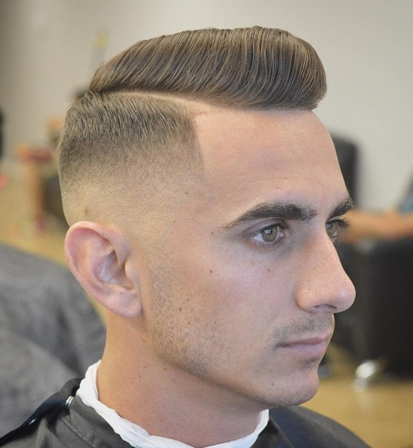 Military Haircut Brush Cut With Fade