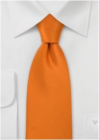 Mens Necktie in Solid Bright Orange