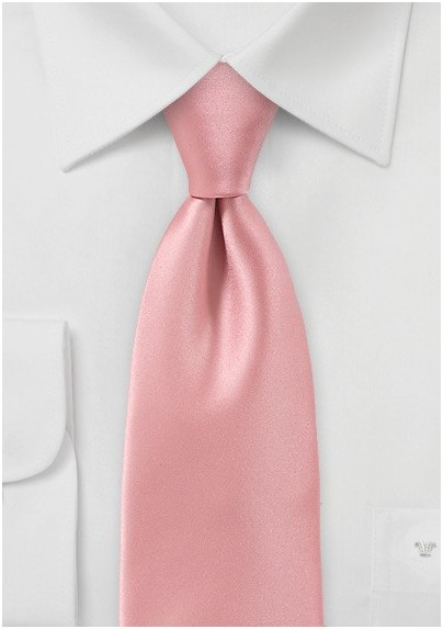 mens necktie in peach