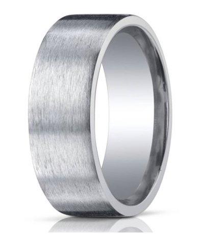 Silver Mens Wedding Band 10 Mm Designer Engraved Satin