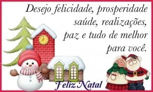 feliz natal com muita alegria para voce