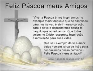 mensagem feliz Páscoa enviar aos amigos amados
