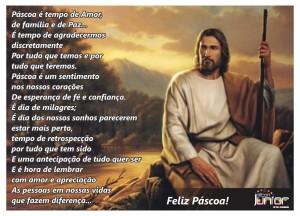mensagem feliz pascoa com ressurreição de Jesus