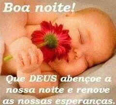 mensagem linda boa noite com foto bebê