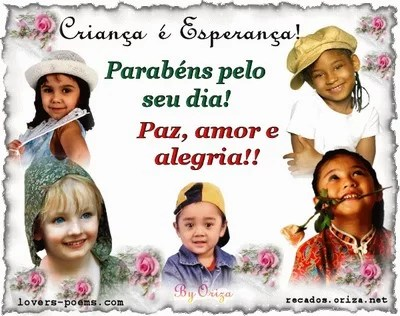 feliz dia das criancas- 12 de outubro