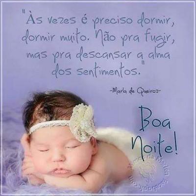 mensagens boa noite com imagem bebê dormindo
