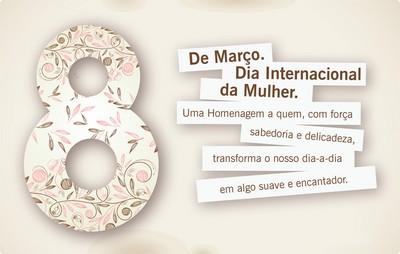 dia internacional da mulher com  homenagem