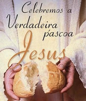 feliz Páscoa com Jesus dentro do coração