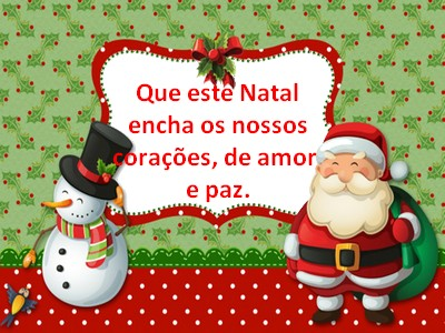 mensagens feliz natal curtas