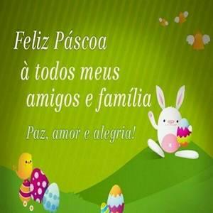 mensagem feliz Páscoa para amigos e familia