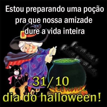 mensagem dia das bruxas – 31 de outubro