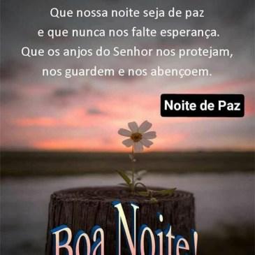 mensagem boa noite com paz e carinho