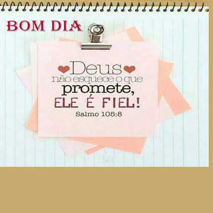 bom dia Deus é fiel