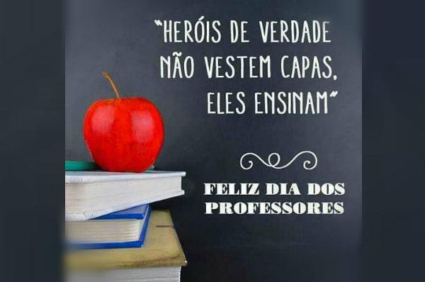 Mensagem Feliz Dia Dos Professores Com Alegria Dia Do Professor