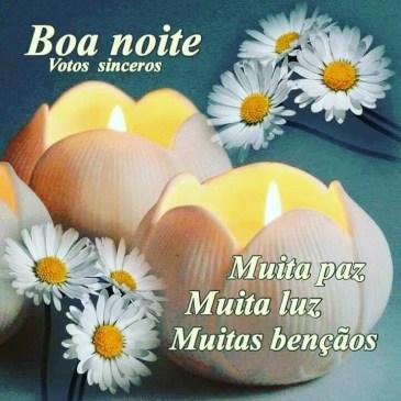 mensagem de boa noite evangélica com flores