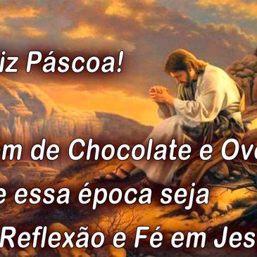Mensagem de Feliz Pascoa cheia de paz