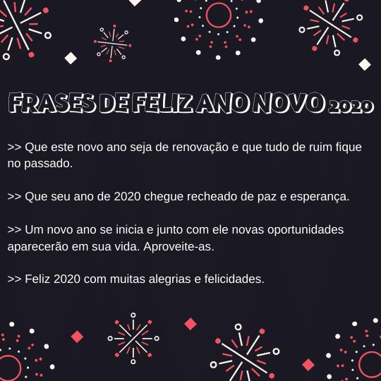 Frases De Feliz Ano Novo 2020 Mensagem De Ano Novo 2020