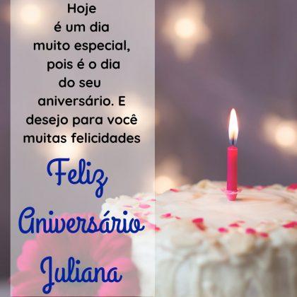 mensagem de parabens e feliz aniversario para juliana