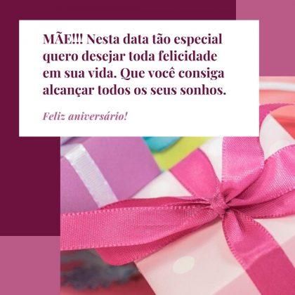 mensagem de aniversário para mãe