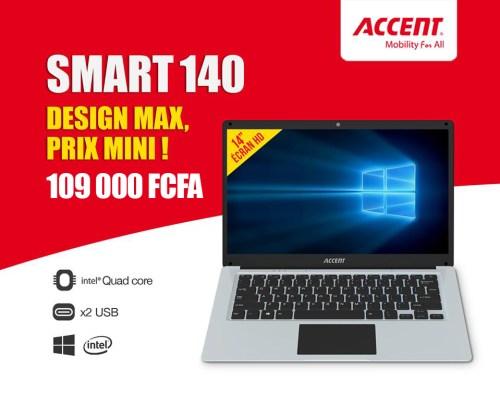 Accent notebook smart 140 prix