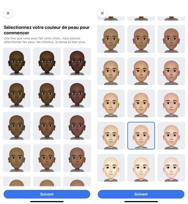 Avatar Choisir sa couleur de peau