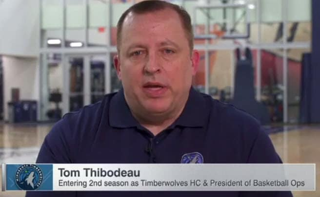 Tom Thibodeau is set up for a Big Season with the Minnesota Timberwolves!  Clinic Notes Included