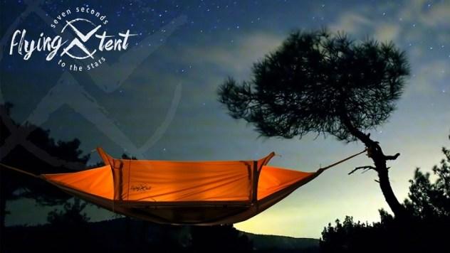 Das Team um Joachim Leitgeb hat das flying tent entwickelt.