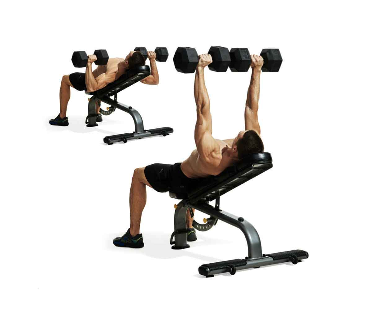 gym chest chair poly banquet covers build a bigger and triceps no barbell workout